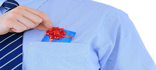 Gift in pocket